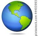 A globe on white background 44403993