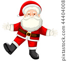 A happy santa claus on white backgroud 44404008