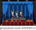 Children performing on stage 44404011