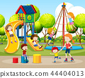 Children playing outdoors scene 44404013