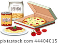 Pizza and pasta scene 44404015