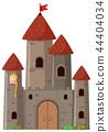 Large castle with princess 44404034
