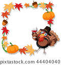 Autumn turkey border template 44404040