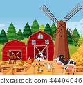 Farm scene with animals 44404046