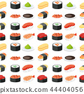 Seamless pattern sushi set 44404056