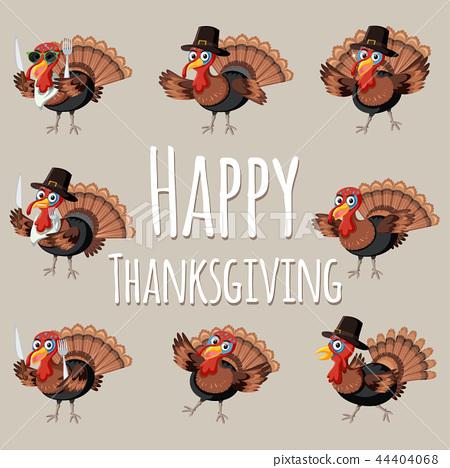 Fun Happy thanksgiving turkey 44404068
