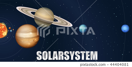 A design of astronomy solar system 44404081