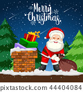 Santa delivery gift at night 44404084
