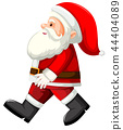 Santa walking white background 44404089