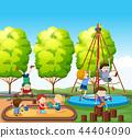 Children playing on playground 44404090