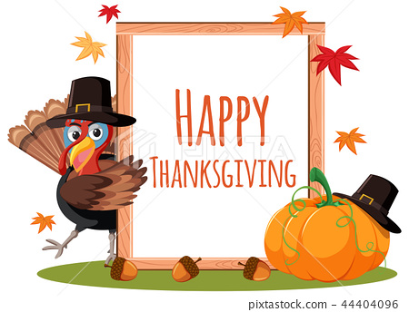 happy thanksgiving card concept 44404096