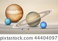 Three dimensional planets concept scene 44404097