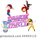 A dance party icon 44404115