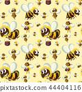 Seamless bumble bee pattern 44404116
