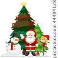Merry Christmas card concept 44404128