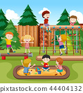 Happy kids playground scene 44404132