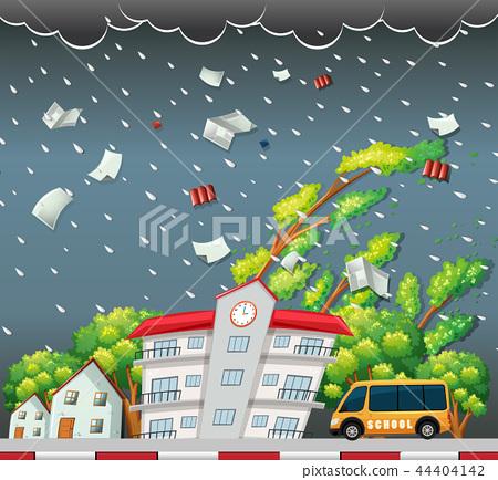 Big storm street scene 44404142