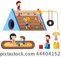 Children and outdoor playground 44404152