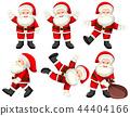 A set of santa poses 44404166