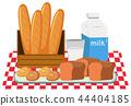 Bread and milk set 44404185