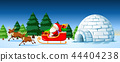 Santa on sleigh scene 44404238