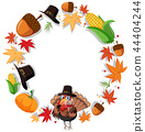 Thanks giving circle concept 44404244