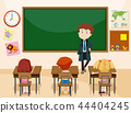 Teacher and students classroom scene 44404245