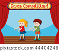 Two children on stage dancing 44404249