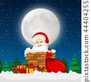 Santa in a chimney scene 44404255