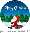 Merry Christmas santa card 44404257