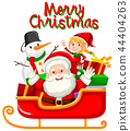 Santa and christmas element for decoration 44404263