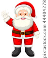A happy santa claus on white backgroud 44404278