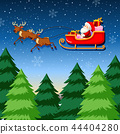 A santa riding sleigh 44404280