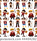 Seamless pattern of children dressed up 44404282