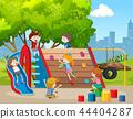 Happy children on playground 44404287