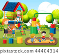 Kids playing on playground 44404314