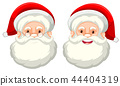 Santa claus facial expression on white background 44404319