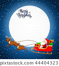 Merry christmas card concept 44404323