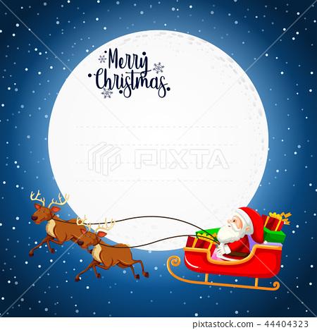 Merry christmas card concept 44404323
