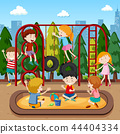 Kids playing on playground 44404334