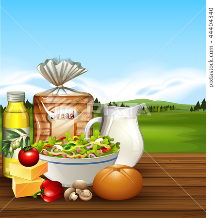 Set of food scene 44404340