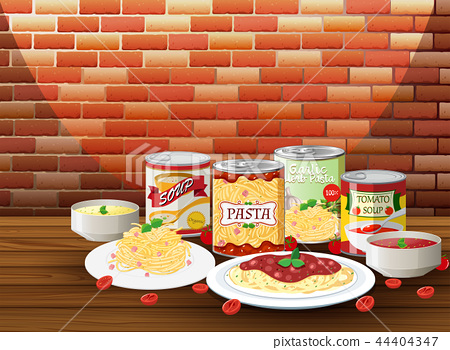 Set of pasta with different sauce 44404347