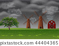 storm, weather, farm 44404365