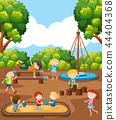 Children playing at playground 44404368