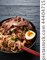 close-up of a bowl of Soba noodles 44404715