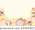 Vintage floral autumn background 44405662