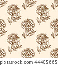 Autumn vintage seamless pattern with flowers. 44405665