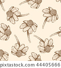 Seamless pattern with daisy flowers. 44405666