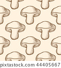 Seamless pattern with forest mushrooms. 44405667