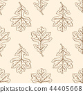 Seamless pattern with oak leaves. 44405668